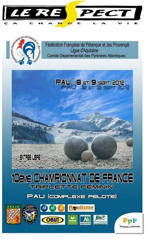 Ch. de France  triplettes féminines 2012